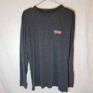 BOGO Pilsner promo long sleeve grey shirt L large